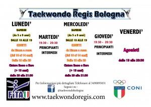 Organizzazione Turni Taekwondo Regis NOV2015
